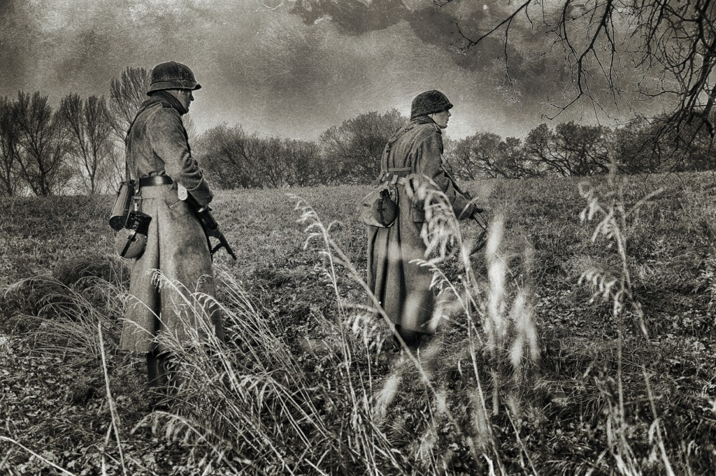 WWII German Soldiers On Patrol