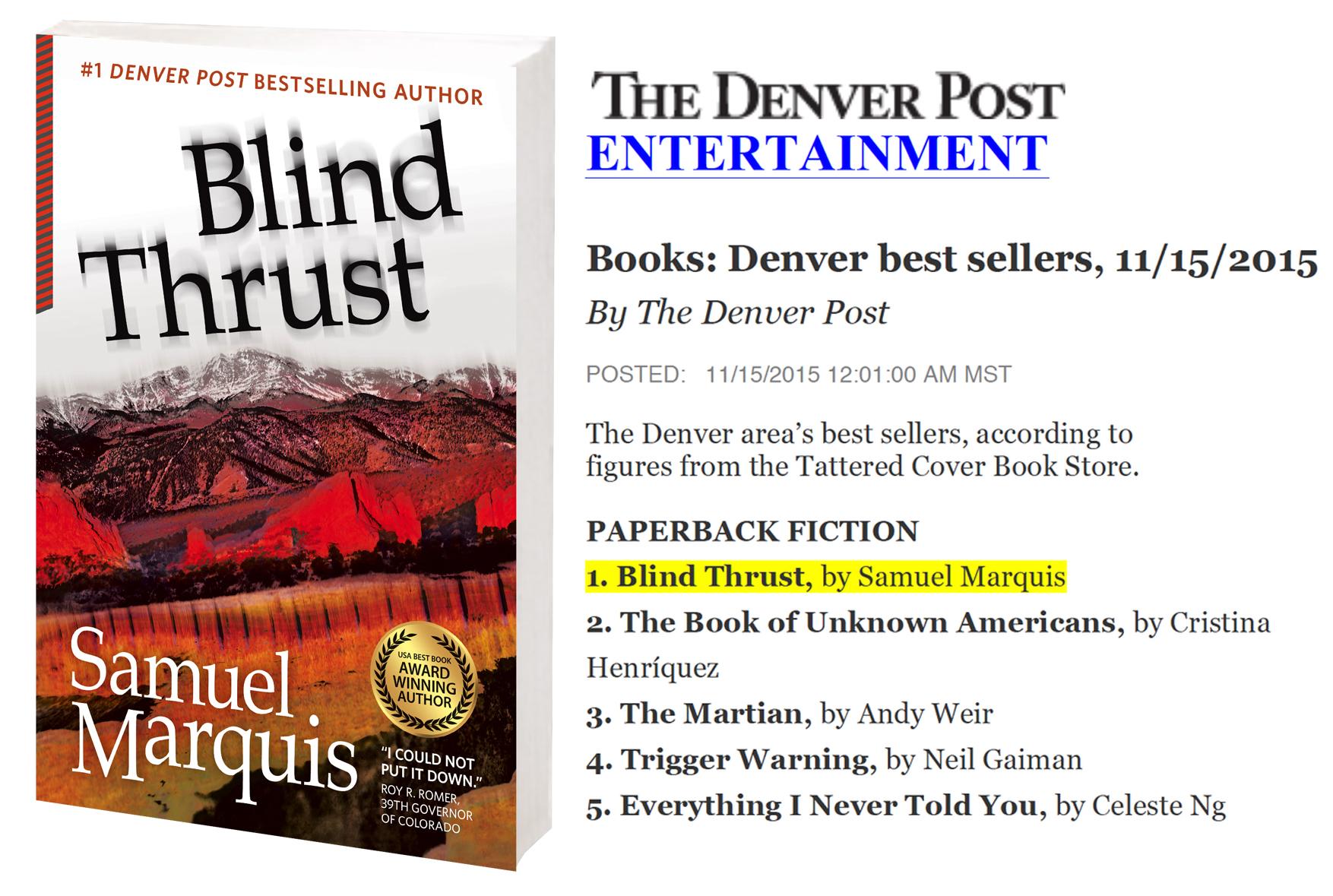 Blind Thrust bestseller list (1)