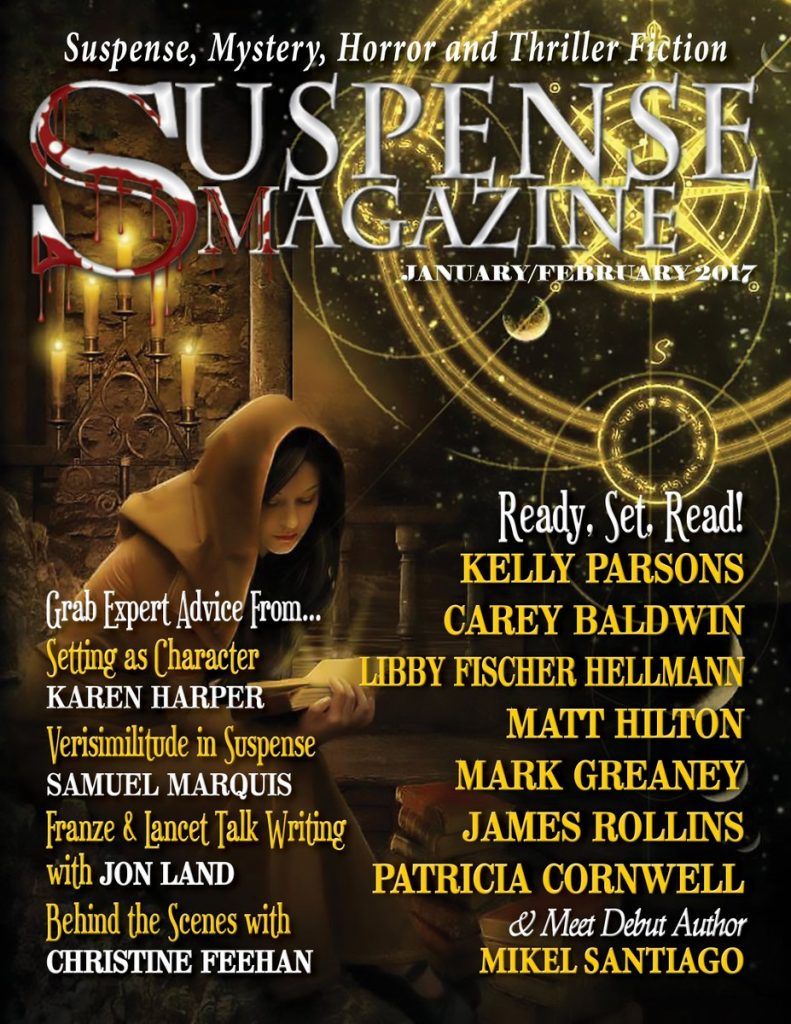 Suspense Magazine Cover - Versim in Suspense